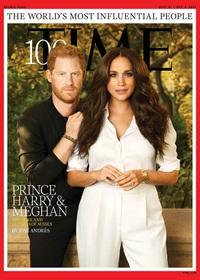 """Bức ảnh """"dậy sóng"""" của Hoàng tử Harry và vợ trên bìa tạp chí Time"""