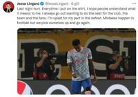 ''Tội đồ'' Lingard viết tâm thư sau sai lầm ở Champions League