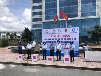 600 cán bộ sinh viên Y dược Cần Thơ lên đường hỗ trợ chống dịch tại Kiên Giang