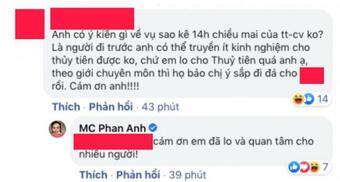MC Phan Anh phản ứng ra sao khi được khuyên nên truyền kinh nghiệm cho Thủy Tiên?