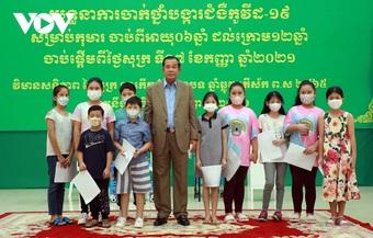 Campuchia chính thức triển khai chiến dịch tiêm vắc xin Covid-19 cho trẻ từ 6-12 tuổi