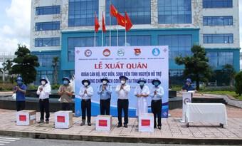 600 cán bộ, sinh viên ĐH Y Dược Cần Thơ hỗ trợ Kiên Giang chống dịch