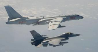 Máy bay quân sự Trung Quốc ồ ạt áp sát Đài Loan