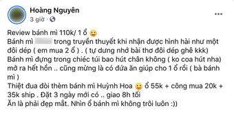 """Review bánh mì """"xịn"""" nhất Sài Gòn giá 110k/ổ của một vị khách: Mở ra hết hồn vì nhìn """"như đôi dép""""?"""