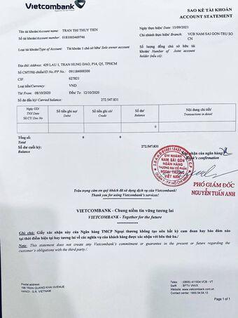 Thủy Tiên tung chi tiết toàn bộ sao kê vừa nhận được từ ngân hàng vào chiều 17/9