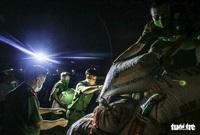 Những người lính trẻ ''đội nắng'', vượt màn đêm gặt lúa cho bà con vùng cách ly y tế