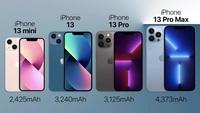 Dung lượng pin trên iPhone 13 được cải tiến như thế nào?