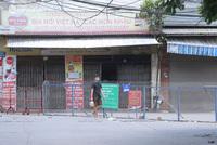 Ảnh: Phong toả 1 ngõ ở Giáp Nhị, tìm người tiêm vắc-xin liên quan ca F0 bán rau củ tại quận Hoàng Mai