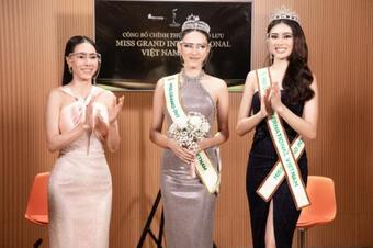 """Thùy Tiên nhận sash từ Ngọc Thảo, chính thức trở thành """"chiến binh"""" tiếp theo tại Miss Grand Vietnam 2021"""