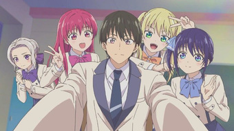 """Các fan anime đã tìm ra """"chàng trai vàng trong làng tán gái"""", bỏ tình đơn phương được 4 cô xinh đẹp yêu cùng một lúc"""