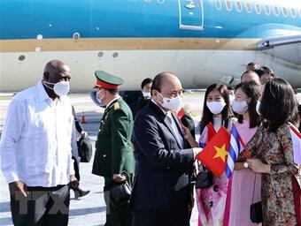 Chủ tịch nước tới La Habana, bắt đầu thăm hữu nghị chính thức Cuba