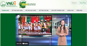 Đại học Quốc gia Hà Nội công bố Kênh trực tuyến hỗ trợ giáo dục tiểu học