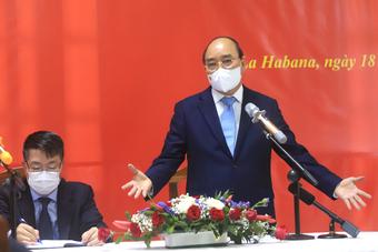 Chủ tịch nước: Đảng, Nhà nước luôn quan tâm đến bà con Việt Nam ở Cuba