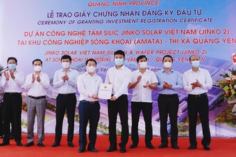 Tập đoàn Jinko Solar: Đầu tư gần 20.000 tỷ triển khai liên tiếp 2 dự án tại Quảng Ninh