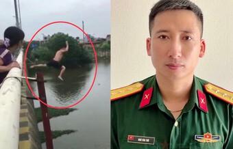 Bộ trưởng Bộ Quốc phòng gửi thư khen Thượng úy cứu đuối cô gái trên sông Đáy