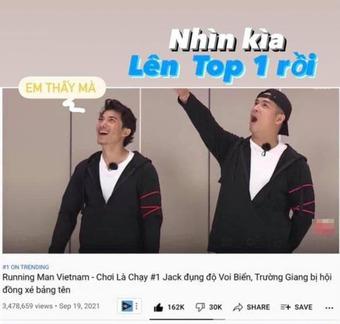 Dù bị chê bai lẫn tẩy chay nhưng Running Man Việt Nam mùa 2 vẫn ''chễm chệ'' Top 1 trending