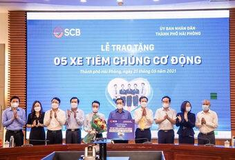 SCB trao tặng thành phố Hải Phòng 05 xe tiêm chủng cơ động