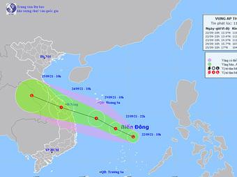 Áp thấp khả năng mạnh thêm, hướng vào miền Trung, mưa lớn sẽ dồn dập