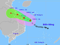 Bão số 6 di chuyển nhanh, các tỉnh miền Trung mưa rất to