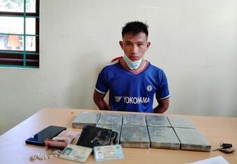 Mang 9 bánh heroin vượt biên giới về Việt Nam tiêu thụ