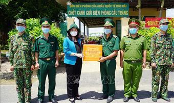 Phó Chủ tịch nước thăm, động viên lực lượng phòng, chống dịch