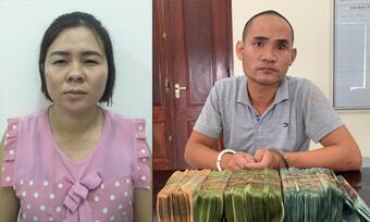 Bắt cặp vợ chồng ''cho vay lãi nặng'' ở Nghệ An