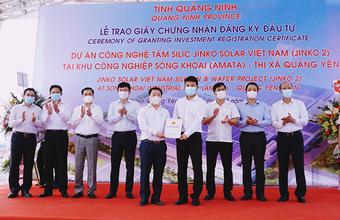 Jinko Solar đầu tư tiếp dự án thứ 2 hơn 365 triệu USD vào Quảng Ninh