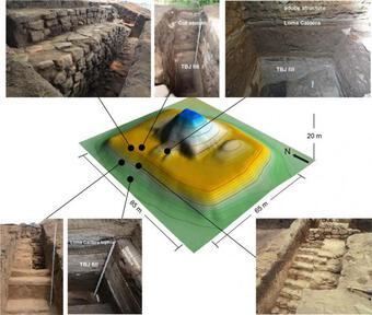 """Choáng váng kim tự tháp """"trấn yểm"""" siêu núi lửa nguyên vẹn sau 1.500 năm"""