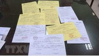 Thái Bình: Khởi tố 3 đối tượng về hành vi làm giả giấy test COVID-19