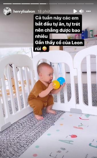 Leon thường được khen bụ bẫm nhưng Hồ Ngọc Hà vẫn lo lắng cho con trai