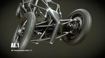 Johnny Trí Nguyễn hé lộ thêm thông tin về dự án ''''mô tô 3 bánh có máy lạnh'''': Khung xe làm bằng carbon và treo trước là giảm xóc khí nén