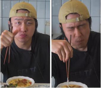 Ăn lại bún chả Hà Nội sau giãn cách, trai Hàn phản ứng mãnh liệt