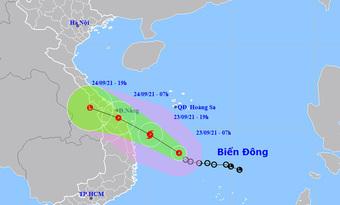Áp thấp nhiệt đới cách Phú Yên 280km, có thể thành bão trong hôm nay