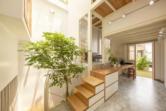 """Nhà mái đôi Sài Gòn xinh ngất ngây với thiết kế """"lõi xanh"""", chỉ ngắm cũng thấy ngập tràn năng lượng tích cực"""