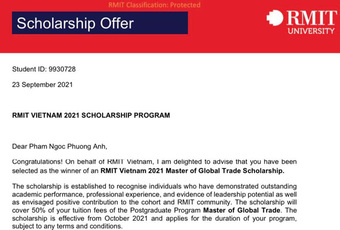 Á hậu học vấn khủng nhất Vbiz: Vừa tốt nghiệp thủ khoa ĐH RMIT, nay nhận học bổng Thạc sĩ Thương mại Toàn cầu