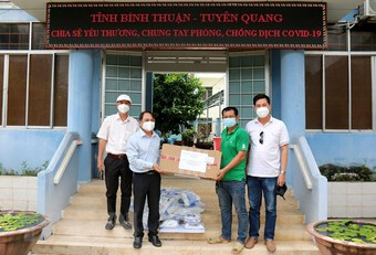 Tuyên Quang hỗ trợ vật tư y tế phòng, chống dịch cho Bình Thuận