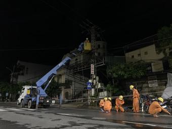 Bão số 6 không ảnh hưởng lớn đến hệ thống điện khu vực miền Trung