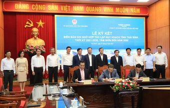 Ký kết hợp tác lập quy hoạch tỉnh Thái Bình