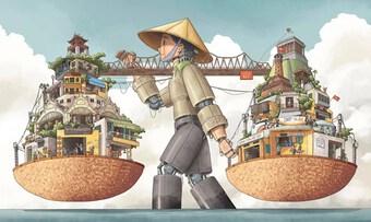 Xem ''Hà Nội rong'', giải Nhất cuộc thi vẽ Hà Nội của UNESCO