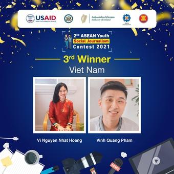 Sinh viên Việt Nam đoạt giải phóng viên trẻ khu vực ASEAN