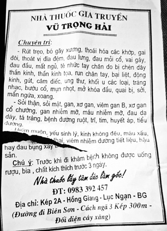 Hy hữu: Thầy lang tại Bắc Giang chữa hiếm muộn bằng cách ''quan hệ'' với người bệnh
