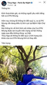 Ca sĩ Mạnh Quỳnh bức xúc vì có người loan tin về sức khỏe Phi Nhung gây hoang mang
