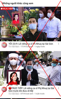 Phẫn nộ việc tung tin thất thiệt về Phi Nhung của nhiều youtuber