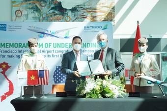 Bamboo Airways ký thỏa thuận hợp tác với sân bay San Francisco