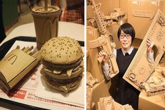 Nghệ sĩ Nhật Bản biến hộp carton thành tác phẩm tuyệt đẹp