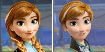 """Cười xỉu khi các nhân vật Disney huyền thoại bị """"hoán đổi giới tính"""": Elsa đẹp trai hết hồn nhưng nhan sắc """"trùm cuối"""" mới gây hoang mang!"""