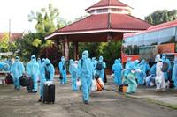 Kon Tum đón 269 công dân tại TPHCM về địa phương