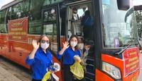 Thêm 218 thanh niên tình nguyện đến TP.HCM hỗ trợ chống dịch Covid-19