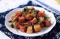 Món đậu hũ xóc thịt heo hộp đổi vị cho cả nhà