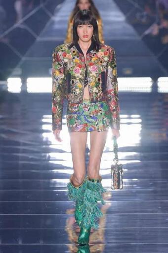 Phương Oanh Next Top trình diễn cho Dolce&Gabbana tại Tuần lễ thời trang Milan